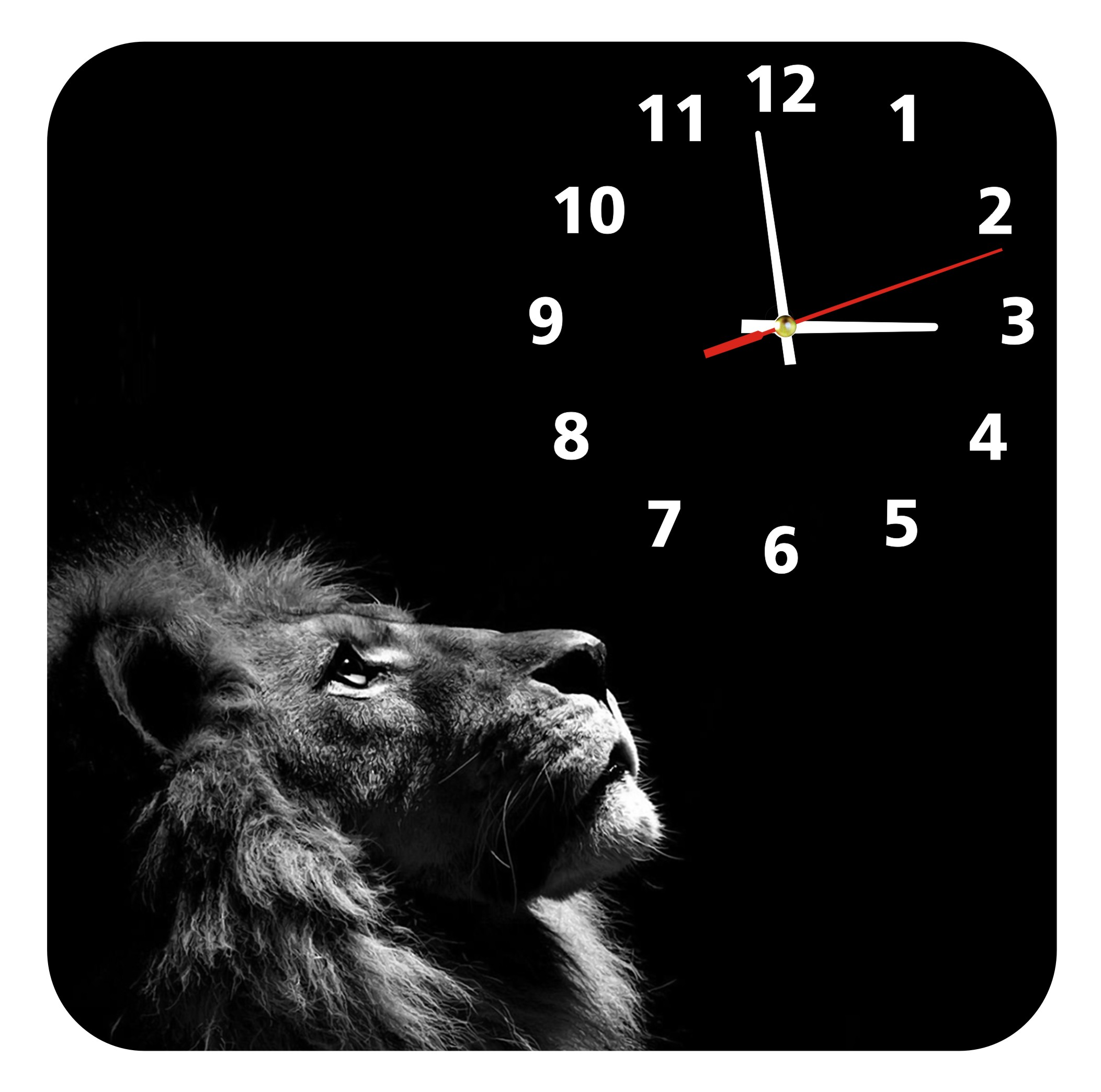 Lion King Of The Jungle Wall Clock Designer Clocks And Led Lights